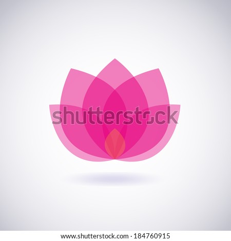 Flower icon. Lotus. Vector - stock vector