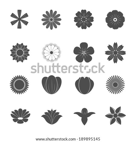 Flower Icons Vector  - stock vector