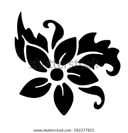 flower stencil stock images royalty free images vectors