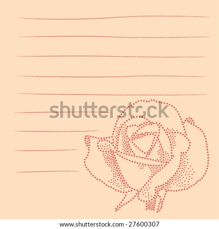 flower illustrated using dots with lines for text