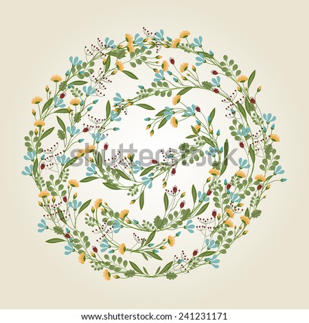 Flower Illustration, Floral Background - vector EPS10  - stock vector