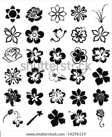 flower images - stock vector