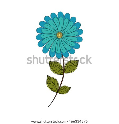 flower leaf garden floral nature plant icon. Isolated and flat illustration. Vector graphic