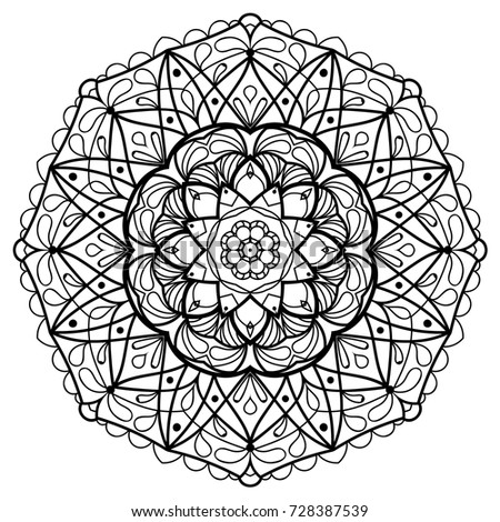flower mandala vintage decorative elements oriental pattern vector illustration coloring book page - Coloring Book Mandala