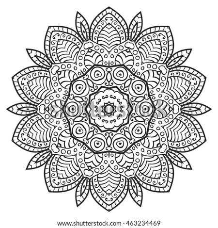 Flower Mandala Vintage Decorative Elements Oriental Stock Vector 515944924