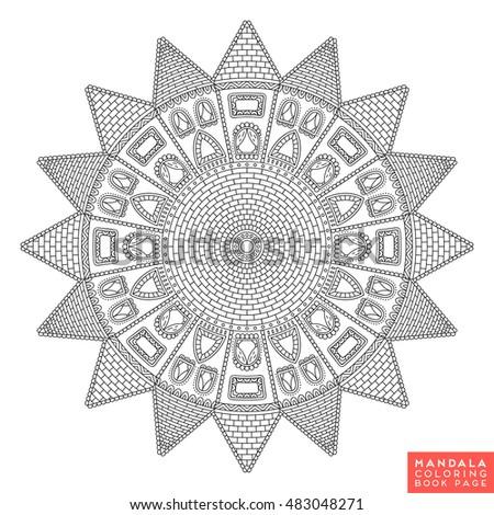 Flower Mandala Vintage Decorative Elements Oriental Stock Vector 497161894
