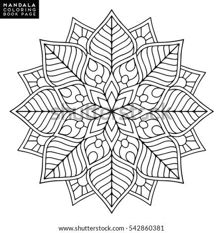Flower Mandala Vintage Decorative Elements Oriental Stock Vector 483048391
