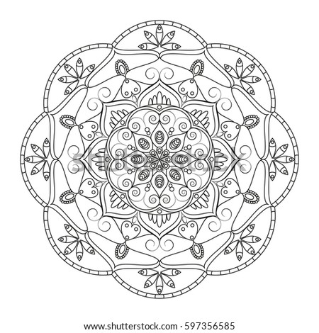 Bohemian Compass Compass Vintage Tribal Style Stock Vector 553378603