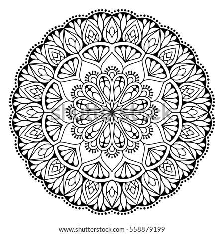 Mandala Vintage Decorative Elements Oriental Pattern Stock Vector 383500084