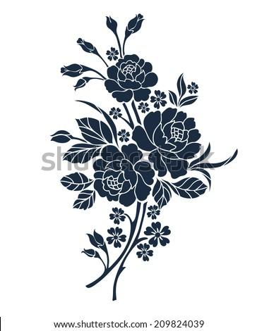 Flower motif for design  - stock vector