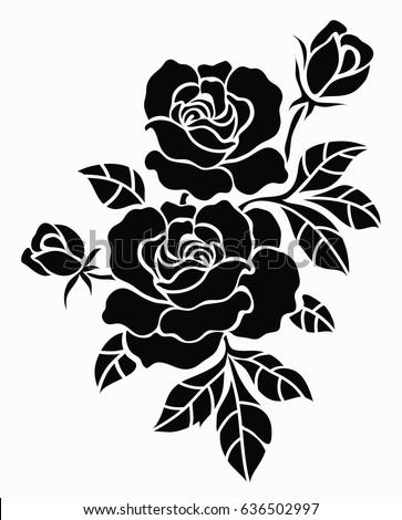 Flower Motif Sketch Design Stock Vector 636502997 ... | 363 x 470 jpeg 33kB