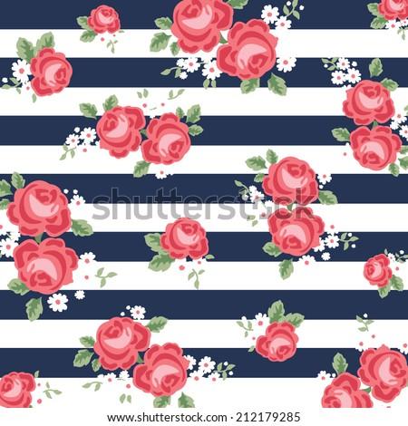 flower navy blue background - stock vector