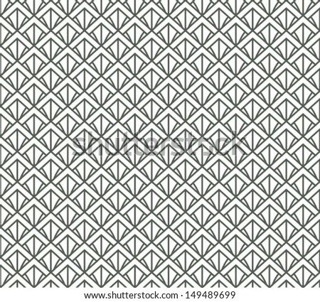 Flower or feather, asian seamless pattern, abstract ornament, japan / china background. Vector illustration - stock vector