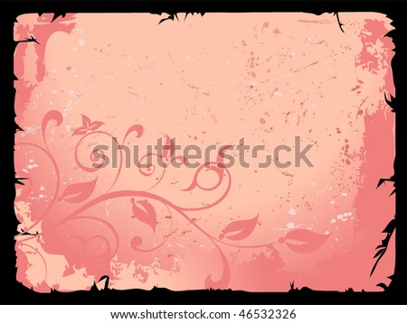 Flower ornament with a tape - stock vector