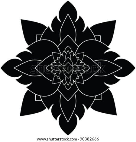 Flower Pattern artistic of thai - stock vector