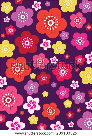 Flower Pattern Background (vector) - stock vector