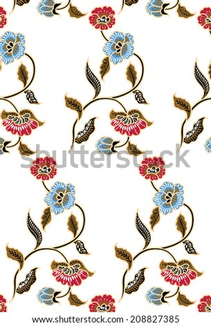 Flower pattern.Colorful flowers. - stock vector
