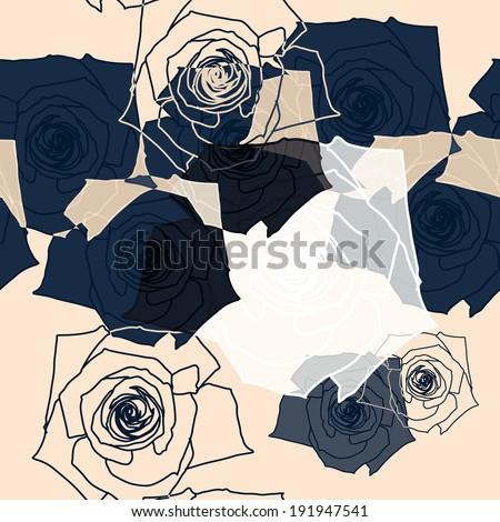 Flower pattern seamless, Eps 10 - stock vector