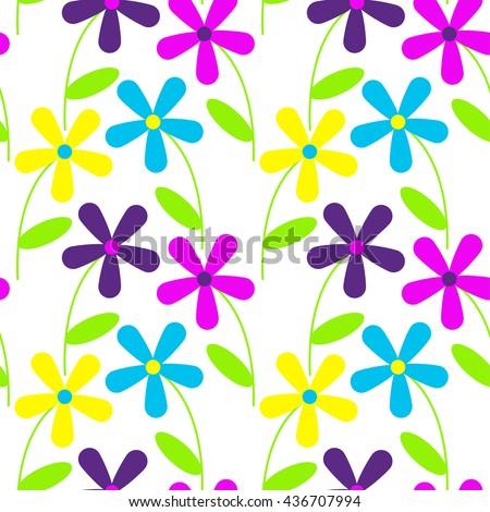 flower pattern vector background stock vector 436707994 shutterstock rh shutterstock com flower pattern vector free download flower pattern vector free