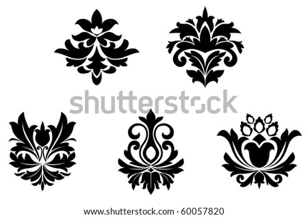 Flower patterns for design and ornate isolated on white. Jpeg version also available in gallery - stock vector