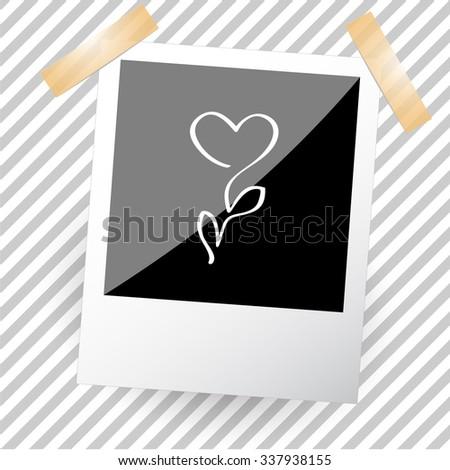 flower. Photoframe. Vector icon. - stock vector
