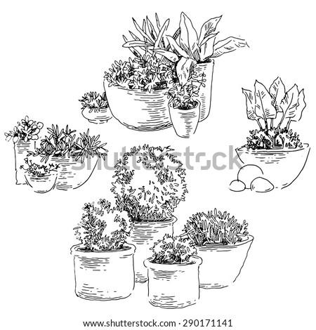 Garden Sketch Stock Images Royalty-Free Images U0026 Vectors | Shutterstock