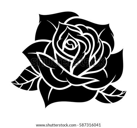 Flower rose black white isolated on stock vector 587316041 flower rose black and white isolated on white background vector illustration mightylinksfo