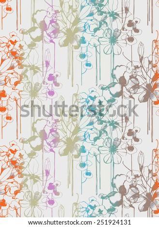 Flower seamless background pattern  - stock vector