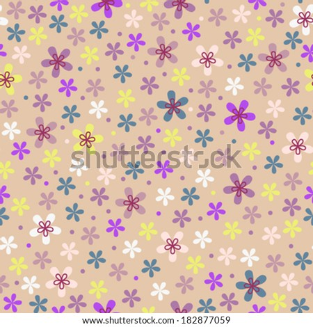Flower seamless color pattern  - stock vector