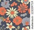 flower seamless pattern - stock