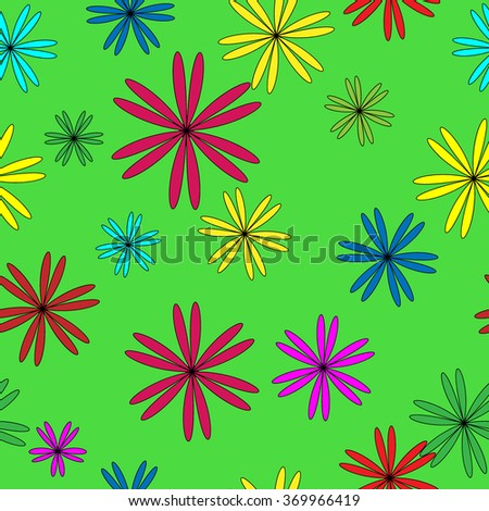 Flower seamless pattern. Fashion graphic background design. Modern stylish abstract texture. Color template for prints, textiles, wrapping, wallpaper, website etc. VECTOR illustration