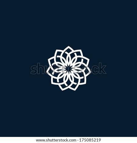 Flower symbol - stock vector