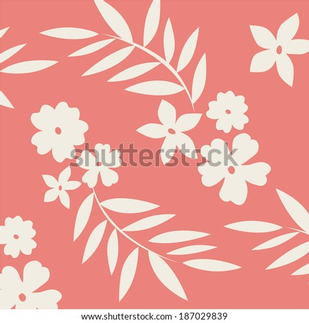 Flower texture background - stock vector