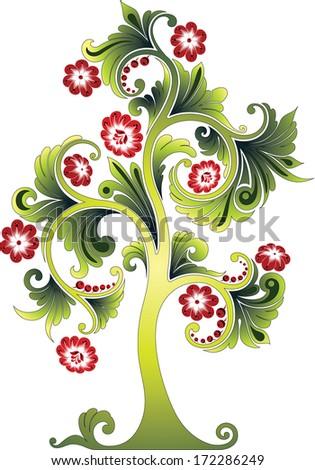 Flower tree - stock vector