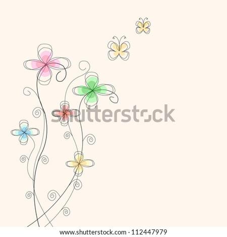Flower vector - stock vector