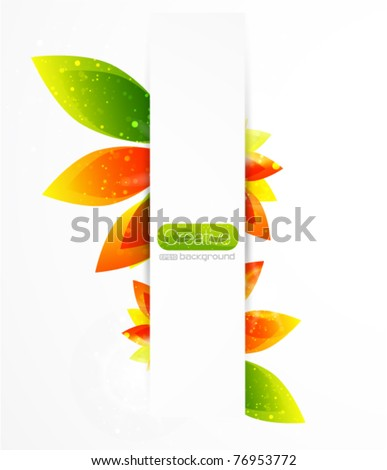 Flower vector background - stock vector