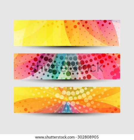 flower vector beautiful headers colorful background  - stock vector