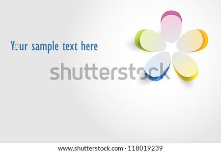 Flower vector. Greeting card - stock vector