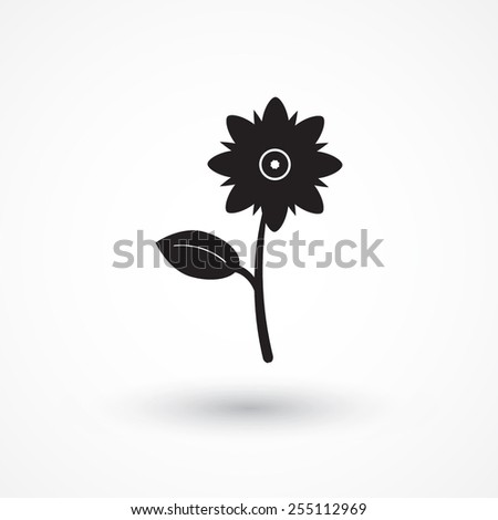Flower - Vector icon isolated