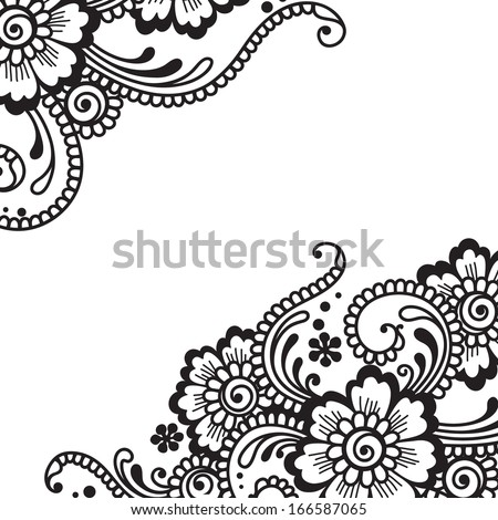 Flower vector ornament - stock vector