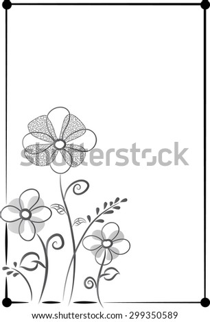 flower with background