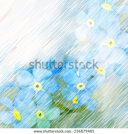 Flowers bright a background  - stock vector