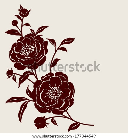 Flowers decorative - stock vector