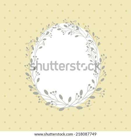 Flowers frame. Vector background. Floral romantic oval frame. Vintage background. Place for text. Invitation. - stock vector