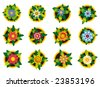 Flowers icon illustration sign - stock vector