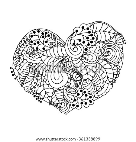 Heart abstract pages coloring pages for Abstract heart coloring pages