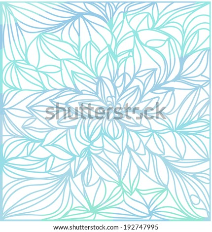 flowers line art illustration doodle style vector file flower background - stock vector
