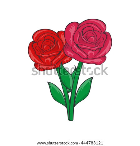 Flowers On Grave Icon Cartoon Style Stock Vector 444783121