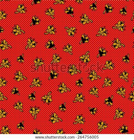Flowers pattern. Vector design. - stock vector