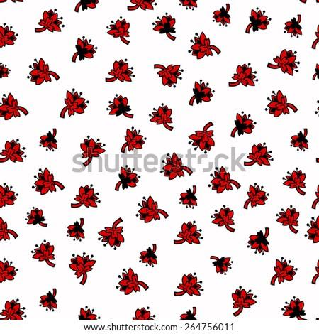 Flowers pattern. Vector illustration. - stock vector